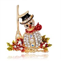 Wholesale Christmas series accessories High grade set auger snowman brooch brooches The new foreign trade sales Series of Christmas ornaments