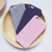 PU+Nubuck Suede apple suede - Luxury PU Leather Cover for iPhone SE s s Plus Ultrathin Nubuck Suede Leather Back Case Cover