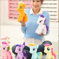 baby horses for sale - Rainbow little horse plush toys Cartoon Animals Baby Toy for Children Gifts Wedding Gifts toys Hot sales