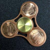 Wholesale EDC Hand Fidget Tri Spinner Focus Toy Fidget Spinner Decompression Toys Handspinner Copper To Create Inlaid US dollars KKA1246
