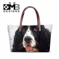 beach for dogs - New arrival women messenger bags cocker spaniel dog summer beach handbag bags over shoulder bag large tote bags for ladies