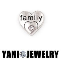 Wholesale 20pcs Silver Heart Family Floating Locket Charms For Memory Locket