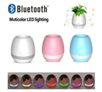outdoor metal planter - New Smart Mini Flower Pot Plastic Bluetooth Speaker Decoration With Built in Battery Office Decor Planter Colorful Light Creative Music Toy