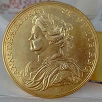 gold plated brass antique gold coins prices - UK Queen Anne and the Peace of Utrecht Gold Copy Coins Promotion Cheap Factory Price nice home Accessories Silver Coins