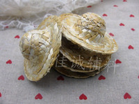 Wholesale Decorative arts and crafts Small straw hat Doll hat DIY home decoration accessories specifications