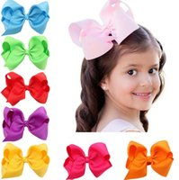Wholesale 2017 NEW Fashion Childern Cheer Bows Hairpin Hair accessories Child Hairbows Girl Flower Hair Bands colors HC017