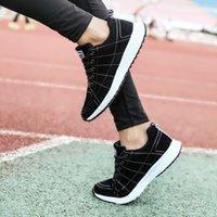 Chaussures de sport Chaussures décontractées confortable respirant lacets net surface mouche tissés antidérapants étudiants de mode polychromatique lumière boom