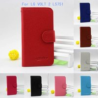 alcatel one touch mini - Wallet case For LG VOLT LS751 C90 G4 MINI Flip Leather Lichee lines cover credit card slots For Alcatel one touch Fling