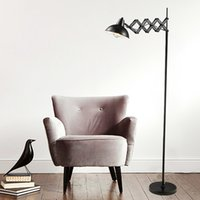 Wholesale Rococo Classic Modern Flexible Floor Lamps E27 Metal Lampshade Led Reading Light Floor Desk Lamp for Living Room