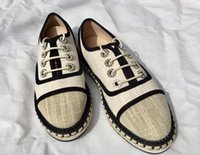 anti fiat - Top Quality Classic Luxury Brand Canvas Pearl Anti slip Women s Casual Fiats Lazy loafers Espadrilles shoes