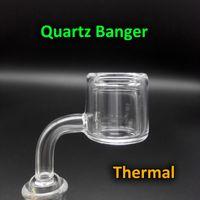 Wholesale New Design XXL Quartz Thermal Banger Nail With mm OD mm mm mm Double Tube Quartz Thermal Banger For Oil Rigs Glass Bongs