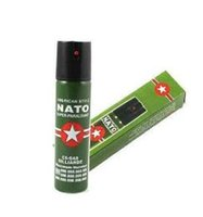 Wholesale 2017Hot Sell NEW NATO CS GAS ML TEAR GAS PEPPER SPRAY New Self Defense Device Personal Security Pepper Spray Women Defense Tool