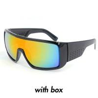 al por mayor las gafas de sol en caja escudo-Gafas de sol rápidas del dragón de la manera las gafas de sol clásicas del protector del al aire libre del deporte de los hombres de DOMO con la caja original Oculos de sol gafas lentes