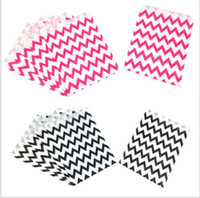 Wholesale Paper Gift Bags Party Food Paper Bag Chevron Treat Craft Paper Popcorn Bags Polka Dot Middy Bitty Food Safe Flat Paper Craft Bags
