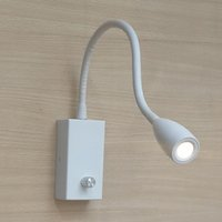 Modern bedroom ideas white - Matte white Bedroom Lighting Ideas Knob Switch Brightness changeable Firm Alumimum hose Flexible top CREE LED W LM