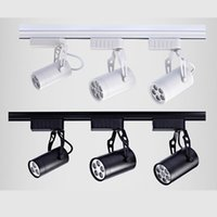 Wholesale High power dimmable LED Track Rail Light W W W W W W led Spotlight Adjustable Rail Track Lighting commercial lighting CE