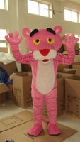 Wholesale Pink Panther Mascot Costumes Cartoon Character Adult Sz Real Picture
