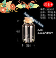 Wholesale 08 Package supplies Transparent small glass cork bottle glass bottle gift accessories handmade material mm mm