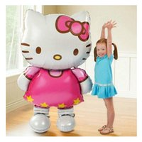 Wholesale 116 cm Large Size Hello Kitty Cat Foil Balloons Cartoon Baby Birthday Wedding Decoration Globos Party Inflatable Air Ballons
