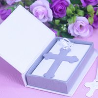 Party Favor bible boxes - Boxed Blessings Silver Bible Cross Bookmark Party Favor Graduation Birthday Bridal Christening Wedding Decoration