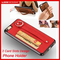 apple packets - New For iphone Leather Kickstand soft tpu case luxury Card Packet shockproof tpu case for iphone plus s plus high quality