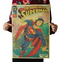 Las aventuras de Superman retro papel kraft carteles pegatinas de pared decoración de la habitación decoración de la casa calcomanías arte mural decoración del hogar