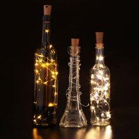 batteries wine bar - Wine Stopper Lamp Starry Wire Light String Strip Cork Shaped LED Bar Party