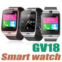 Dispositifs portables intelligents Prix-NOUVEAU Smart Watch Gv18 Aplus Horloge Android SIM Card Bluetooth Smartwatch Appareils portables étanches GSM Montre Connecter Reloj Movil avec boîte
