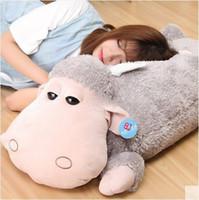 alpaca pillow - 39 Jumbo Cartoon Sheep Plush Baby Doll cm Giant Soft Alpaca Stuffed Toy Sleeping Pillow Baby Present