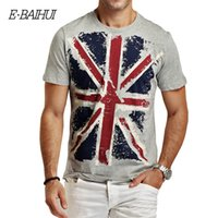 Wholesale E BAIHUI Brand new summer style Cotton men Clothing Male Slim Fit t shirt Man T shirts Casual T Shirts Swag mens tops tees Y001