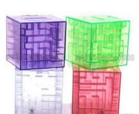 Wholesale NEW MONEY MAZE coin box puzzle gift game prize saving bank educational toys MYY