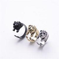american bulldog dog - 10pcs Honest Dog English Bulldog Rings Tom and Jerry American French Bulldog Rings for Women Fine Jewelry