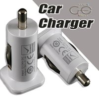 Wholesale USAMS A mha USB Dual Car Charger V Dual Port Car Chargers for iPad iPhone Plus S S iPod iTouch HTC Samsung LG Sony