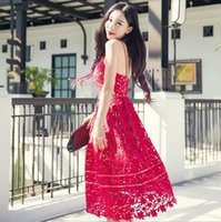 Wholesale Women Sexy Bohemia Lace Sleeveless Dresses Party Fashion Dress Long Sleeve Stripe Spring Summer Slim Dresses FF