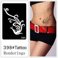airbrush skin - Disposable tattoo stencil detachable artistic creation fashionable skin available tattoos Myth Phoenix