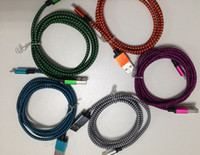 apple cord charger - Colorful USB Cable Snake pattern Braided Fabric M ft Micro USB Cord Data Sync Charger Cable For Android smartphones iphone