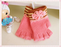 baby terms - Qiu dong season lovely children s gloves Finger wool and wool pre term babies warm warm gloves