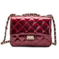Wholesale Diamond Lattice Women Bag Designer Handbags High Quality Lady Quilted Plaid Women Messenger Bag Lady Trendy Patent Leather