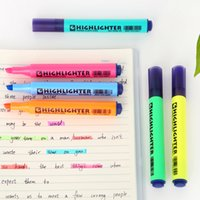 Wholesale Highlighter pens for paper copy fax DIY drawing Marker pen Stationery office material School supplies