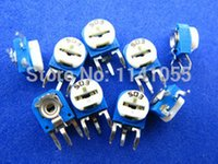 Wholesale Vertical Trimmer Potentiometer RM K ohm Trimmer Resistors Variable adjustable Resistors RM063 K