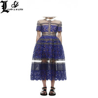 beautiful vintage clothing - European high end high quality clothing beautiful woman full of sheer embroidered lace stitching ladies formal wear long dress