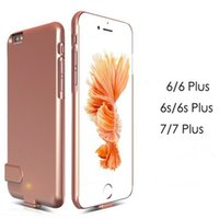 Wholesale iphone smart battery case Power Cases For iPhone7 External Battery Backup Cases Charging Power Bank cover for s plus