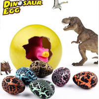 Wholesale 5pcs Magic Hatching Growing Dinosaur Add Water Grow Dino Cracks Grow Egg Animal Breeding Process Teach Toys For Children Kid