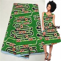 achat en gros de vert africain cire print-Tissu d'impression en cire africaine ankara vert java print vente chaude pour robe de mariée 6yard / lot LXJ-170