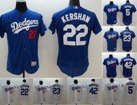 Wholesale 2017 Postseason Patch Men Los Angeles Dodgers Clayton Kershaw robinson Adrian Gonzalez Corey Seager Stitched jerseys
