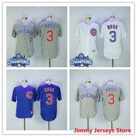 Wholesale Men Chicago Cubs David Ross baseball Jerseys WORLD SERIES CHAMPIONS Good Quality Nice Flexbase Blue White Grey
