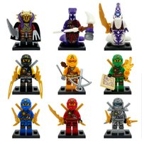 Wholesale 9pcs set Ninja Minifigure Assemblage Building Blocks Model Bricks Lloyd Skylor