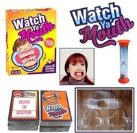Wholesale 10sets Party Game Board Game Watch Ya Mouth Game cards mouthopeners Family Edition Hilarious Mouth Guard