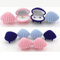 Wholesale Jewelry Boxes and Packaging Mixed cm Earrings Ring Organizer Shell Shape Gift Box for Jewellery display