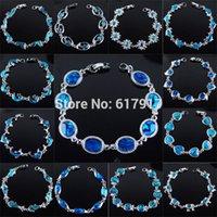 abalone bar - New Zealand Abalone Blue Shell Beads Gem Bracelet quot Fashion Jewelry TBK132